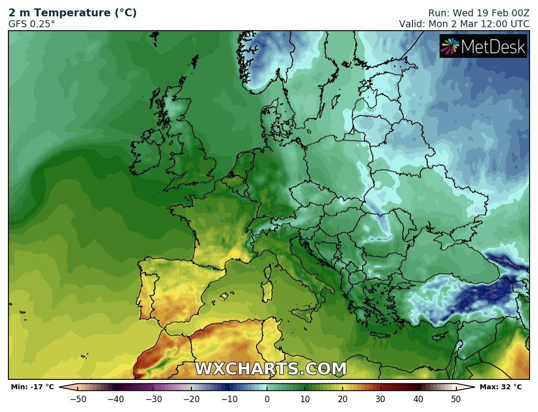 Prognoza 16 dniowa – chłodny początek marca.