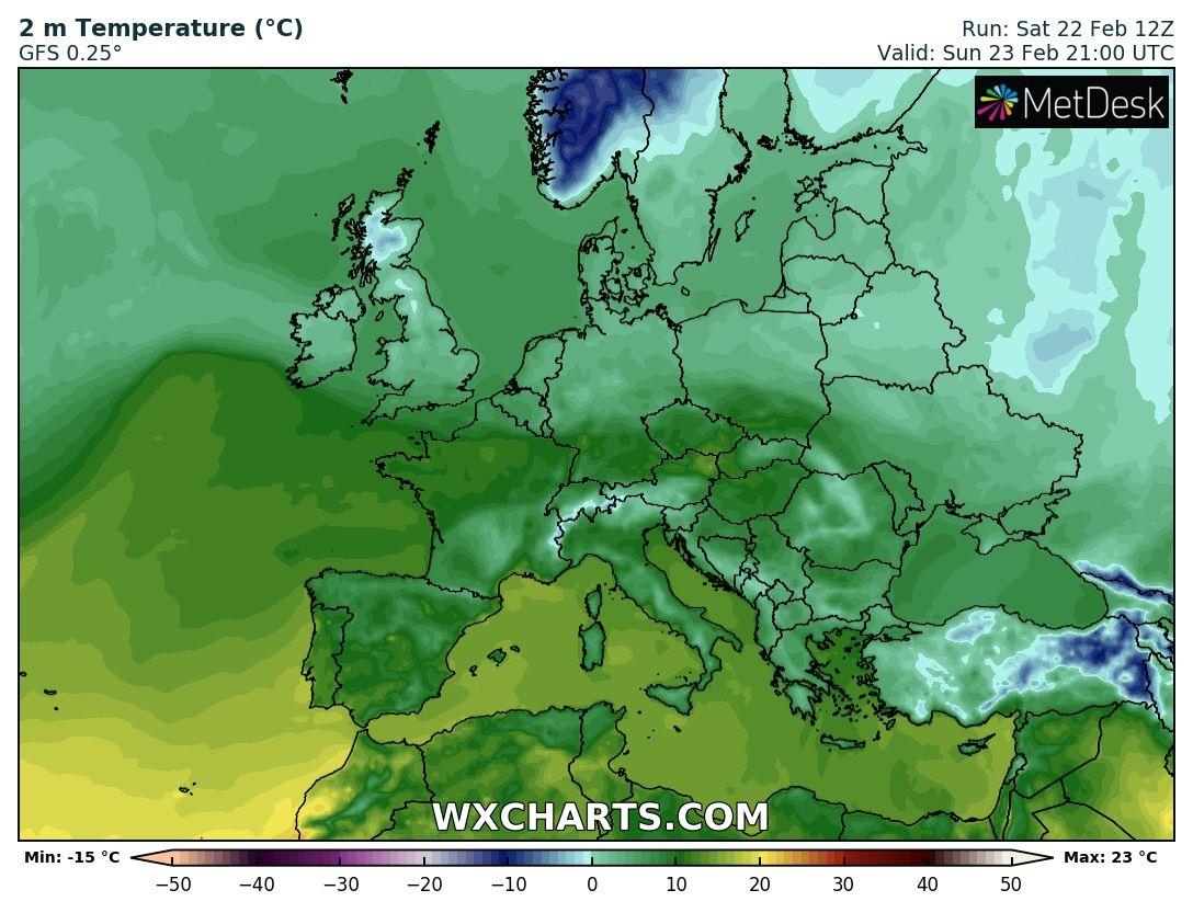 Prognoza 23-24.02 – silny wiatr do 120km/h!