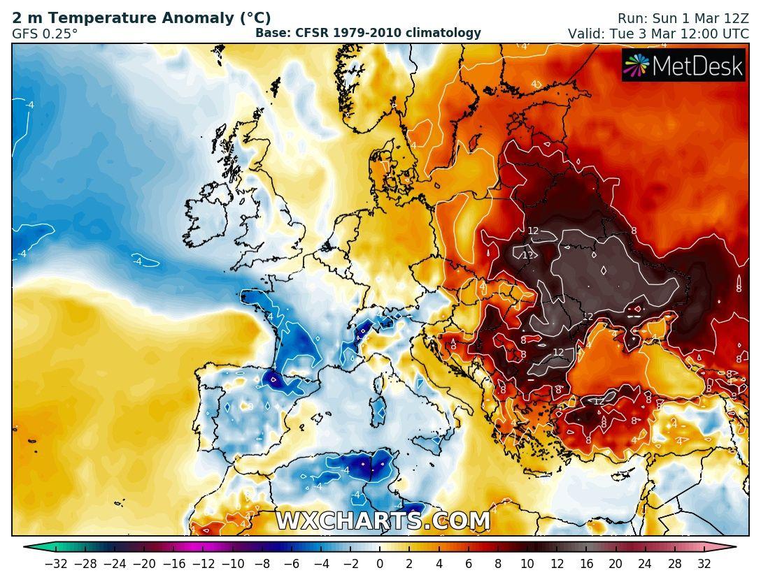 Prognoza 02-03.03 – ciepły początek marca.