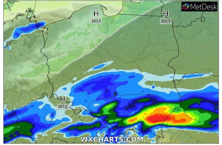 ALERT METEO – intensywne opady deszczu