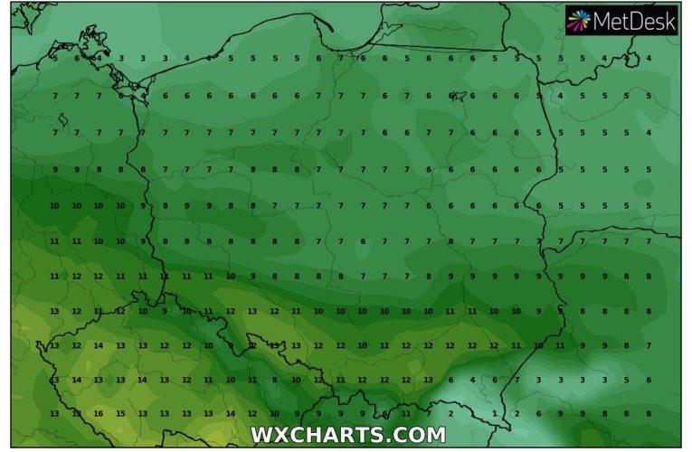 Prognoza na kolejne dni – idzie ocieplenie.